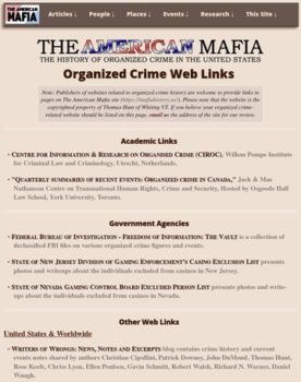 American Mafia website Web Links page