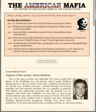 American Mafia website homepage